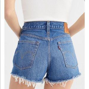 Levi's 501 Mid Rise Denim Shorts